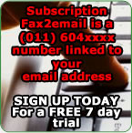 Subscription Fax to Email, Fax 2 Email - Registration